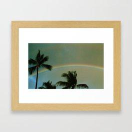 Rainy Rainbow Framed Art Print