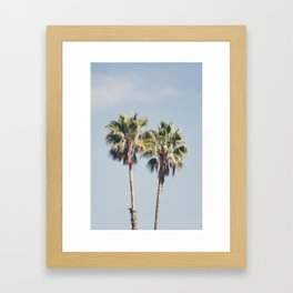 2 Palms Framed Art Print