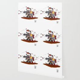 Calvin and Hobbes Inspired Hero Parody Wallpaper