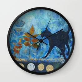 Blue Cat Wall Clock