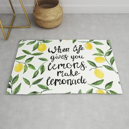 When Life gives you Lemons, make Lemonade Rug
