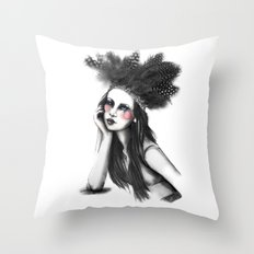 Show Girl Throw Pillow