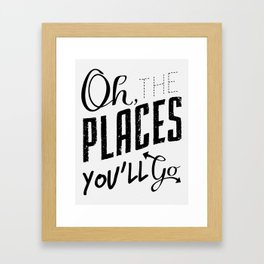 Oh, The Places... Framed Art Print