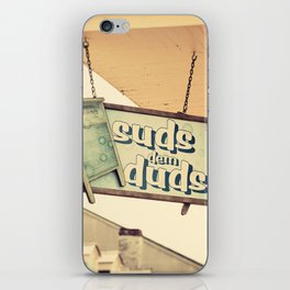 Suds dem Duds iPhone Skin