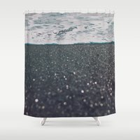 iceland Shower Curtains featuring Vík, Iceland by Chelle Wootten