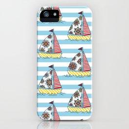 Sunny sailboats iPhone Case