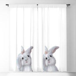 White Rabbit Girl isolated Blackout Curtain