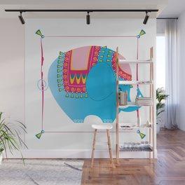 Blue elephant Wall Mural