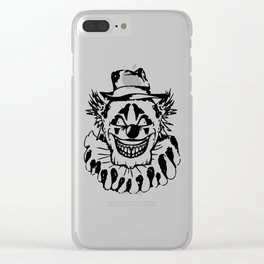 Black and white Evil Clown Clear iPhone Case