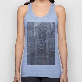 1892-Claude Monet-The Cathedral in Rouen. The portal, Grey Weather-65 x 100 Unisex Tank Top