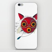 mononoke iPhone & iPod Skins featuring Mononoke Mask  by Puddingshades