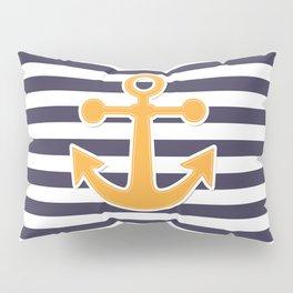 Blue , white , striped Pillow Sham