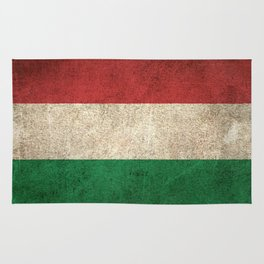 Old and Worn Distressed Vintage Flag of Hungary Rug