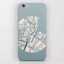Boston Map 2 iPhone Skin