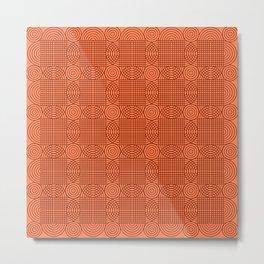 Op Art 18 - Coral Metal Print