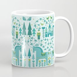 Fairytale Illustration in Blue Coffee Mug