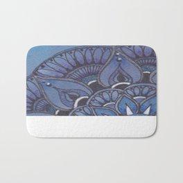 Zentangle Inspired Art (ZIA) Zendala, Purple and Blue Bath Mat