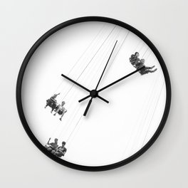 Flying chairs Wall Clock