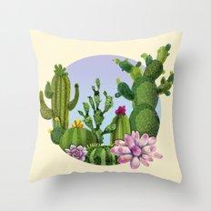 Cactus & Succulents Throw Pillow