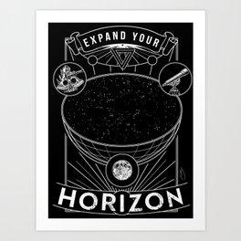 Expand Your Horizon  (Astronomy) Art Print