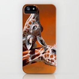 Giraffes couple in love iPhone Case