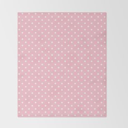 Dots (White/Pink) Throw Blanket
