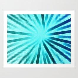Intersecting-Aqua Art Print
