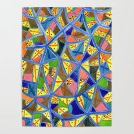 Celestrial Archaic Pattern Poster