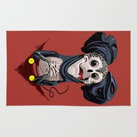 mickey Area & Throw Rugs featuring Creepy Mickey by tshirtsz