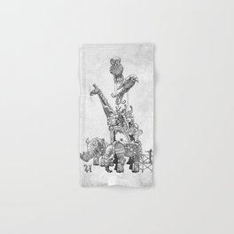 The Clockwork Menagerie (Silver) Hand & Bath Towel