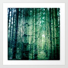 lost in the forrest Art Print