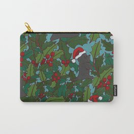 Christmas Dog Pattern Carry-All Pouch