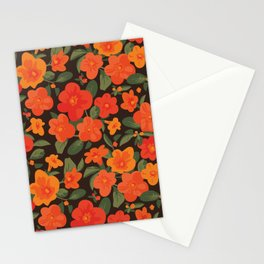 Marmalade Bush. Streptosolen jamesonii Pattern Stationery Cards