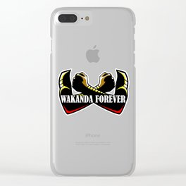 Wakanda forever hand x Clear iPhone Case