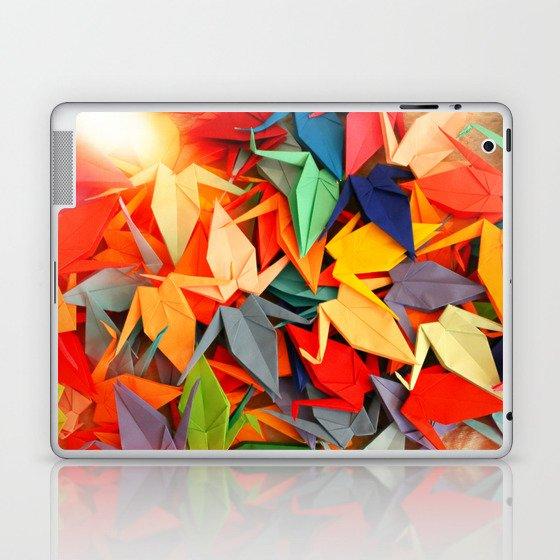 Senbazuru rainbow Laptop & iPad Skin