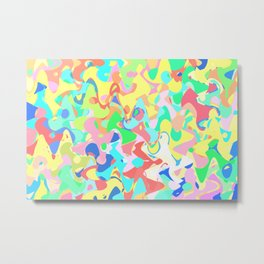 Chaotic vision, vibrant colors and shapes, funny mess Metal Print