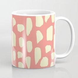 spot doodle_cream on pink Coffee Mug