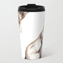 Steppen ferret (Mustela eversmanii) Metal Travel Mug