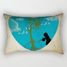 cultivating peace Rectangular Pillow
