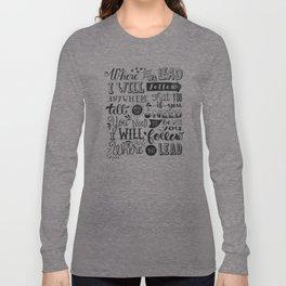 Where You Lead | Gilmore Girls Long Sleeve T-shirt