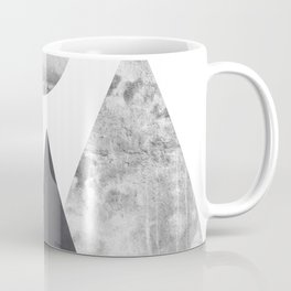 Black and Grey texture mountain geometric art print Coffee Mug