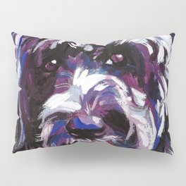 PWD Portuguese Water Dog Fun bright colorful Pop Art Dog Painting by Lea Pillow Sham
