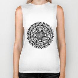 Mandala Flowers Biker Tank