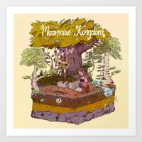 moonrise kingdom Art Prints featuring Moonrise Kingdom by BBAE2