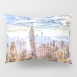 New York Manhattan Skyline Art Pillow Sham