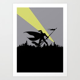 True Dark Knight Art Print