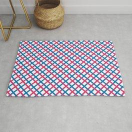 Red & blue stripes pattern Rug