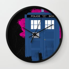 Time and Relative Dimension in Space Wall Clock