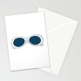 60s Blue Retro Glasses | Mod Stationery Cards
