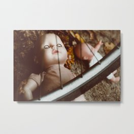 Forgotten dolls in warm autumn colors, oil painting efect Metal Print